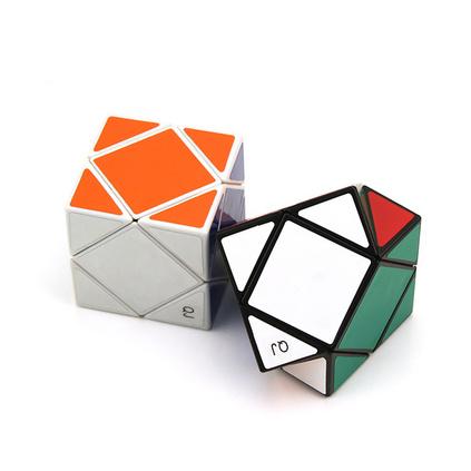 斜钻贴纸异形魔方 益智力玩具 专业比赛专用魔方定制