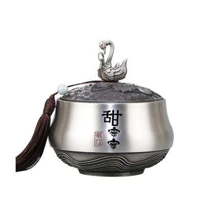 纯锡茶叶罐茶具 送礼高端锡罐定制