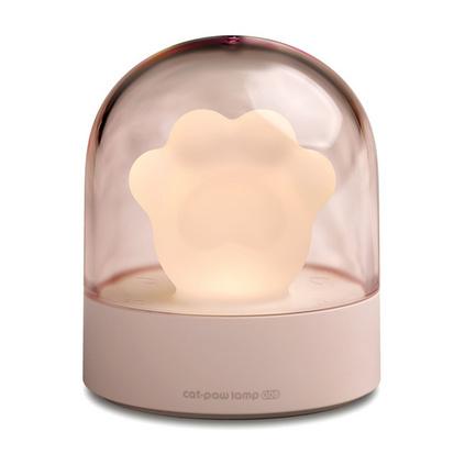 叁活 創意可愛貓爪燈 床頭伴睡音樂燈充電小夜燈卡通氛圍usb燈定制