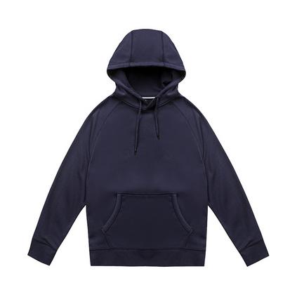 秋冬新款350g純色長袖衛衣 連帽套頭衛衣定制