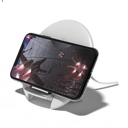 叁活 创意10W智能QI无线充电器 超薄圆形折叠支架手机快充定制