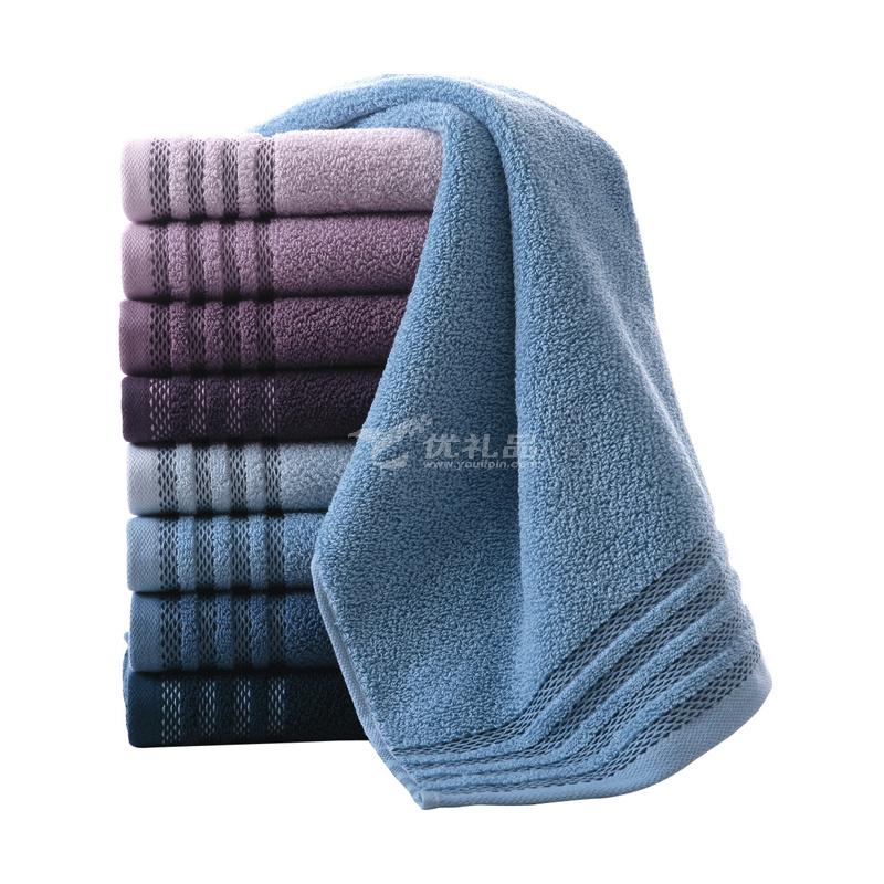 纯棉毛巾/面巾 70*34全棉素色提缎加厚洗脸毛巾定制