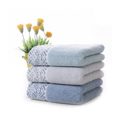 纯棉面巾70*34 160g加厚素色毛巾定制