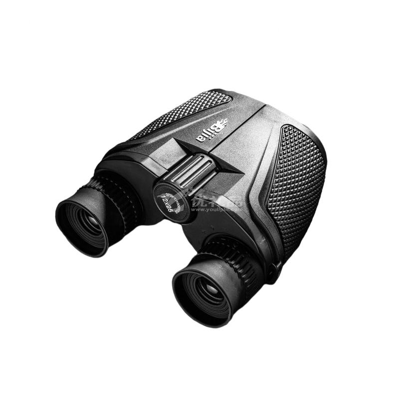 12X25高倍雙筒望遠鏡 高清袖珍微光夜視成人兒童便攜望遠鏡定制