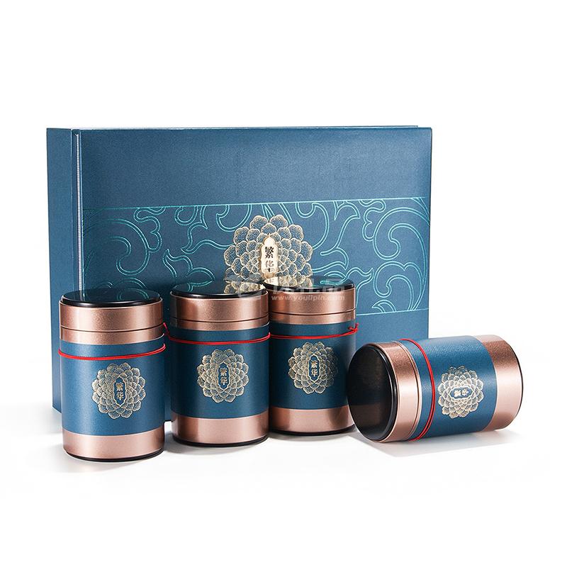 創意通用紅茶綠茶小罐茶葉禮盒包裝空盒高檔茶葉罐禮盒定制