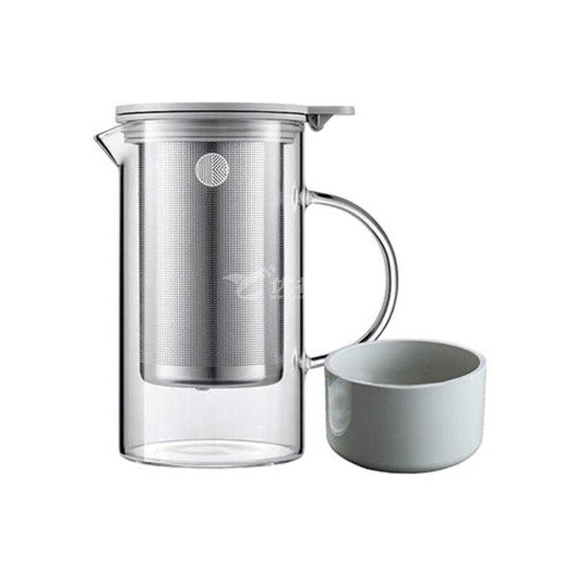 北鼎 玻璃泡茶壺800ml 耐高溫家用過濾茶具沖茶器 花果茶杯水壺定制