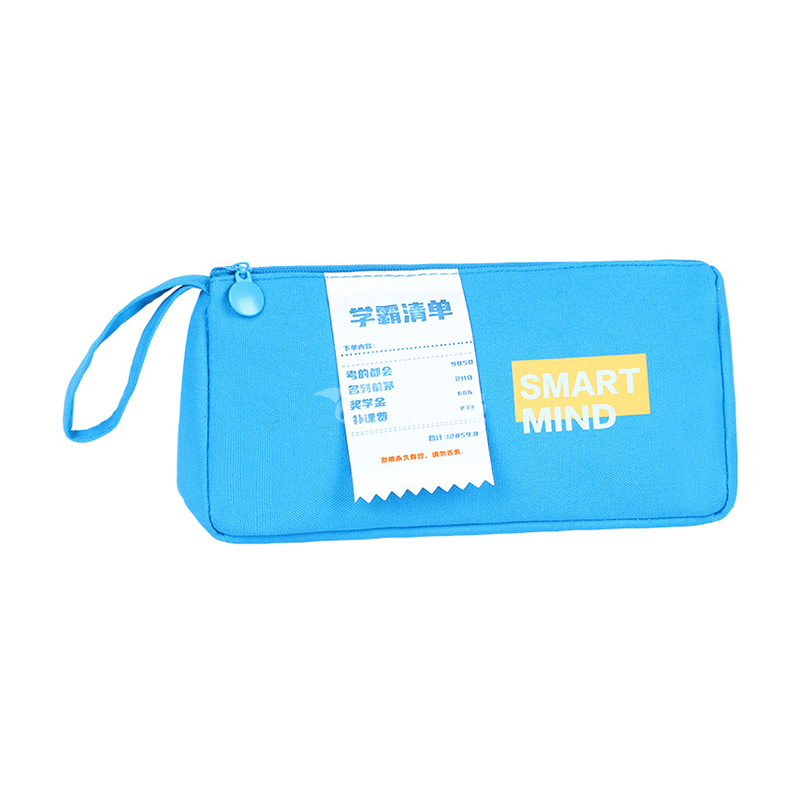 學霸筆袋創意帆布筆袋大容量筆盒手提便攜學生文具收納袋定制