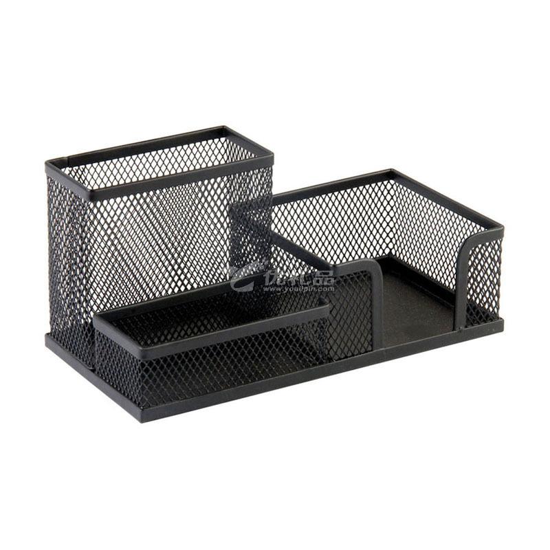 金屬黑色創意多功能組合筆筒桌面收納筆桶鐵藝文具收納架定制