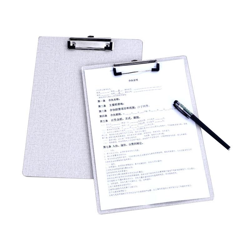 新款布紋平頭板夾木板文件夾寫字板夾定制