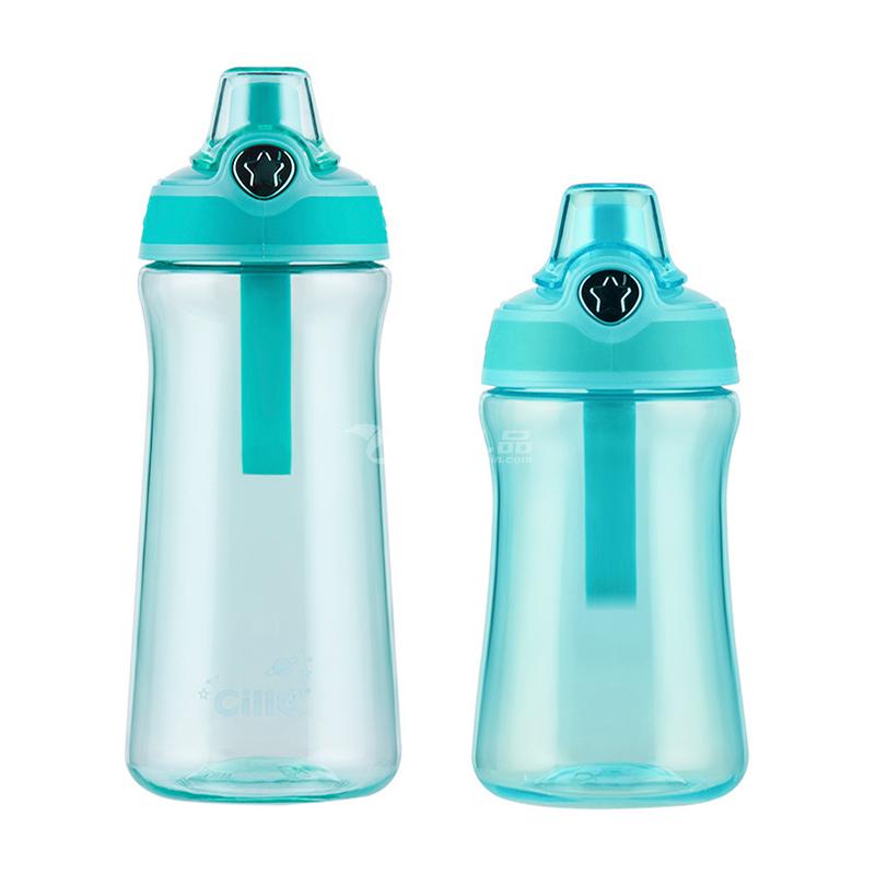 希樂兒童小學生吸管杯清新簡約塑料水杯戶外便攜防摔杯子定制
