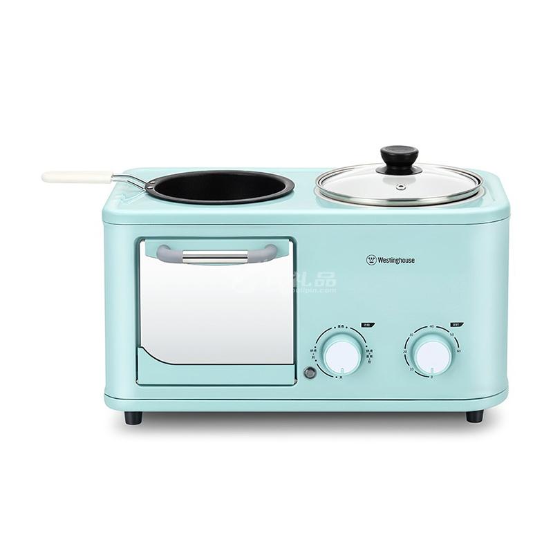 西屋 多功能早餐機 WZC-041 煎烤一體不粘鍋早餐機定制