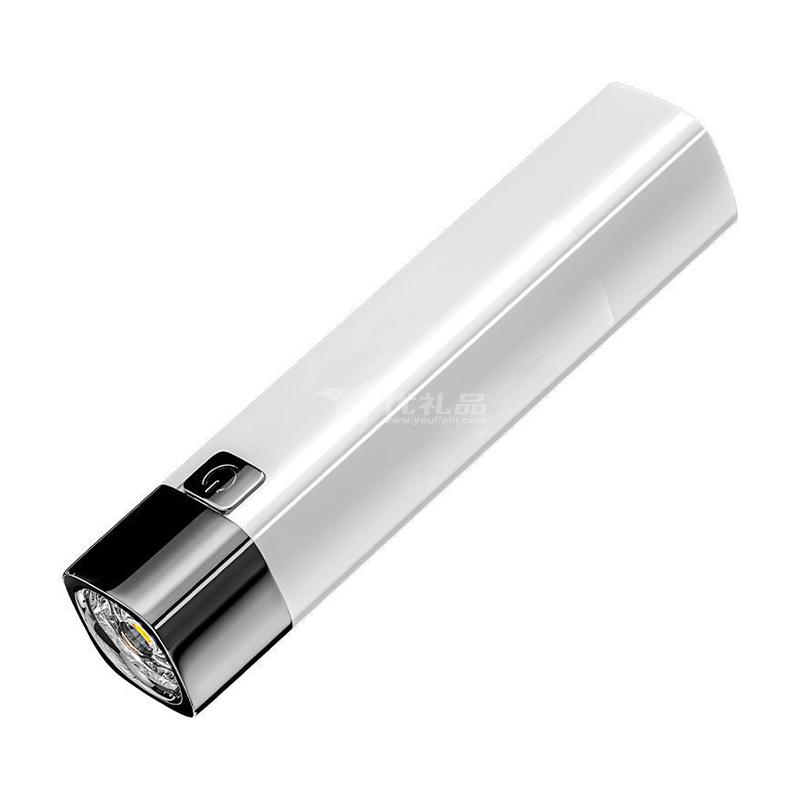 迷你强光照明led灯 带充电宝多功能户外便携远射塑料手电筒定制